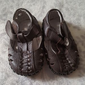 Pediped brown leather shoes